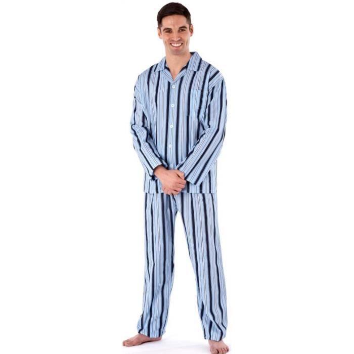 cb235652f1df5 Harvey James Ensemble de Pyjama Coton Long Été Homme Gris - Achat ...