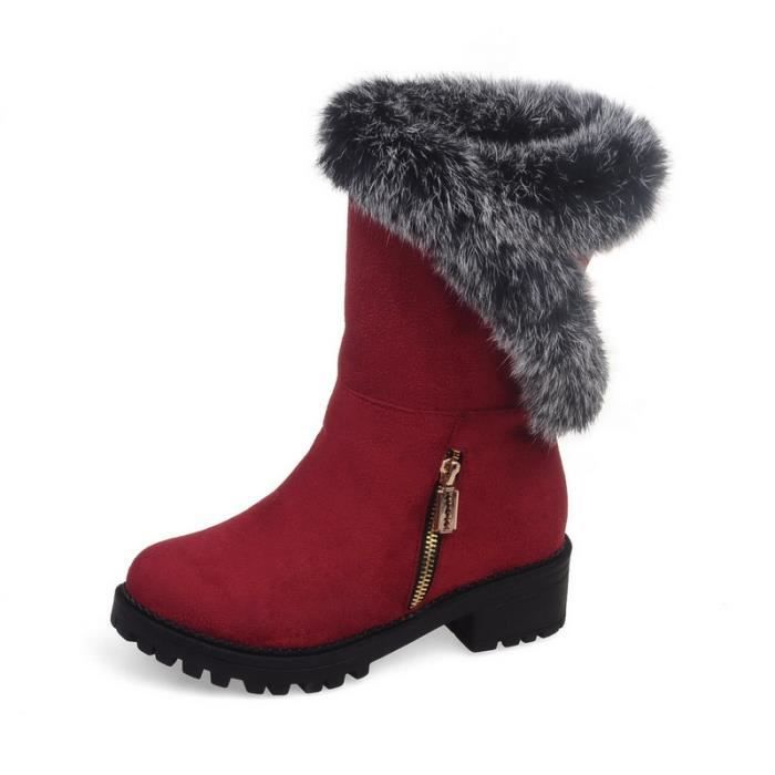 Femme Hiver Neige Cheville Boots Chaudes qualit...