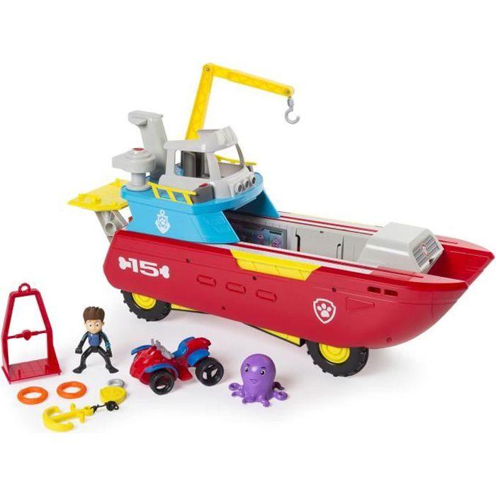 pat patrouille bateau sea patroller v hicule transformable avec quad et figurine achat. Black Bedroom Furniture Sets. Home Design Ideas