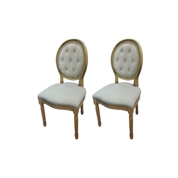 CHAISE Lot De 2 Chaises Mdaillon DIDEROT
