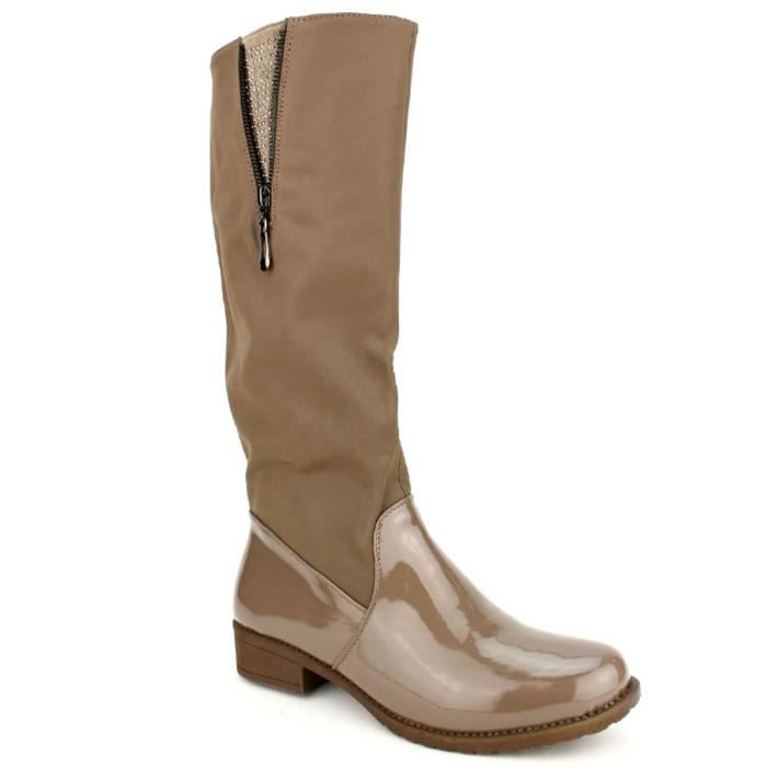 botte, Bottes Taupe Chaussures Femme, Cendriyon