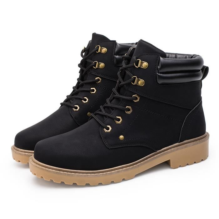 Garniture Martin Automne Poi Bottes Hiver Occasionnels hommes Chaussures Low Cheville Plate PqnW6Uqa