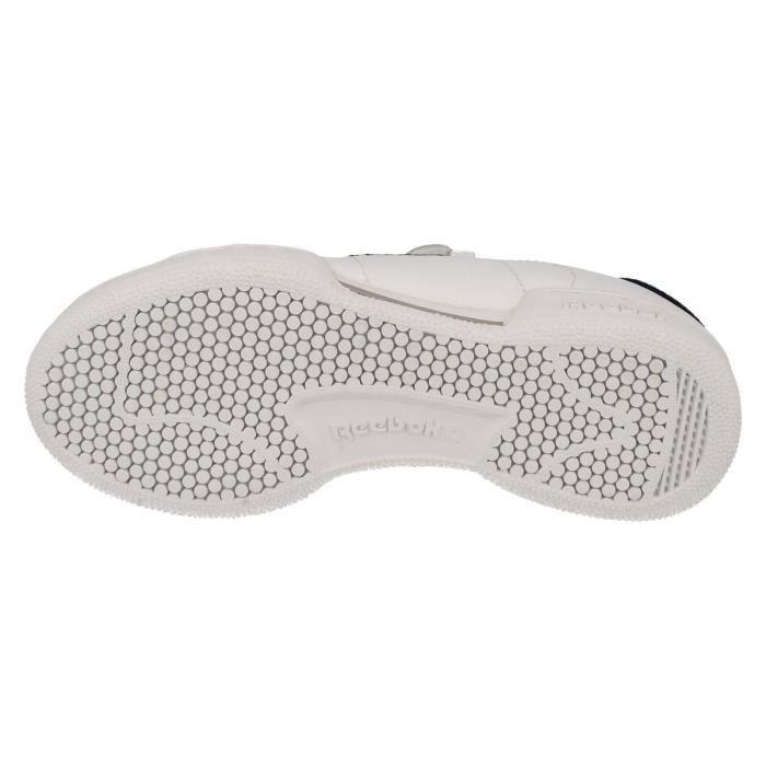 Baskets REEBOK blanches à scratch pour enfants en cuir. Xdma0U