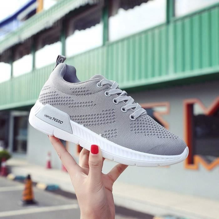 Respirants Sport dérapage Femme Solike Anti Fille Basket Outdoor Course Chaussures Fitness Sneakers De Running Lacets Gym Mode UxnHx7Zwg