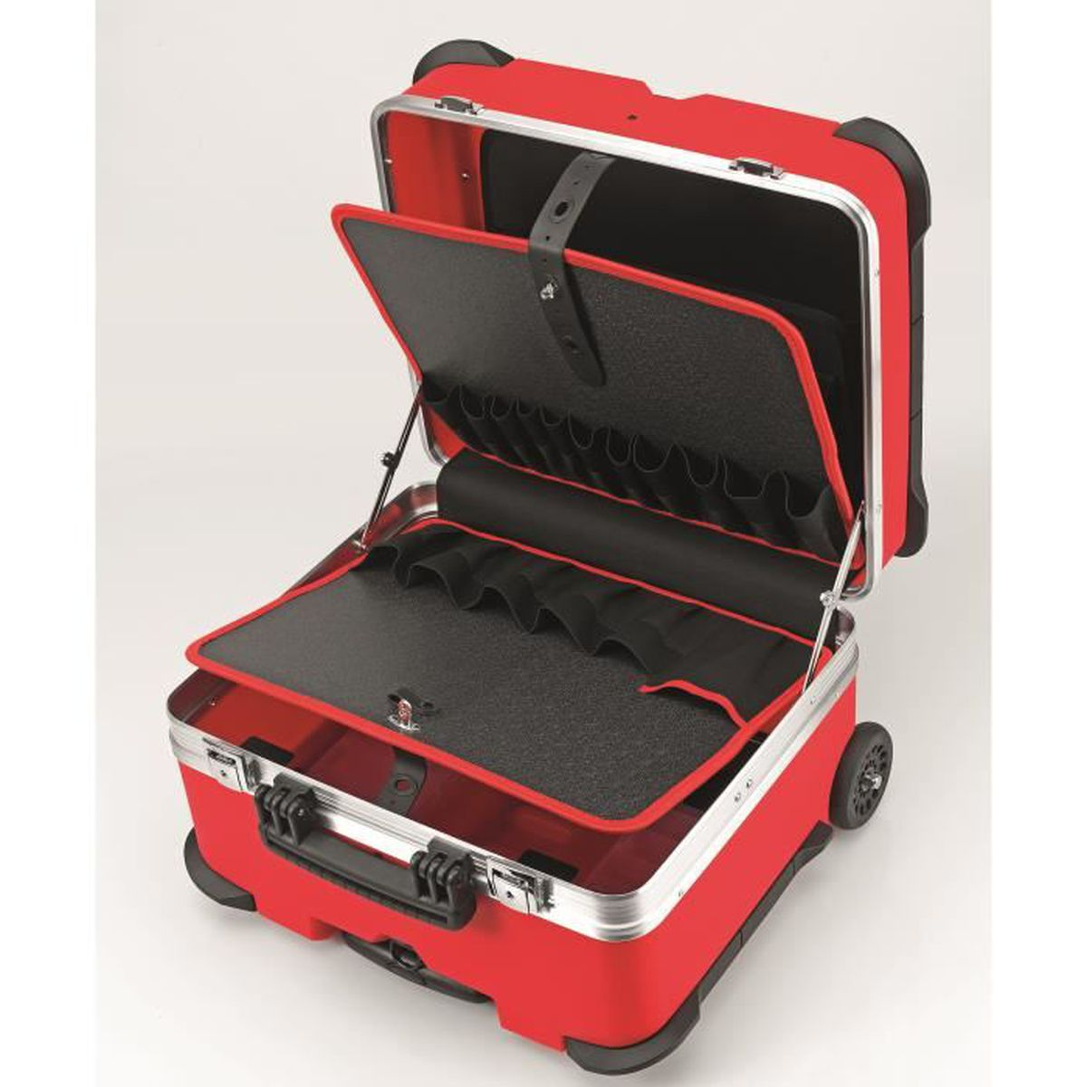 VALISE A OUTILS JUMBO ROUGE AVEC ROULETTES 42,42KG 4142X4200X42MM ... - Valise Rouge