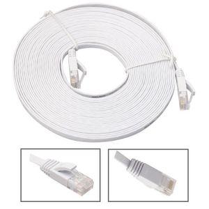 PACK COMPOSANT Câble de réseau Ethernet 15m plat CAT6 câble patch