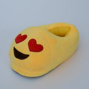 #4 une paire de chaussons pantoufles chaussures amusantes pour maison domestique Expression Imoji drôle contents dents Jaune 09IfQzPNA