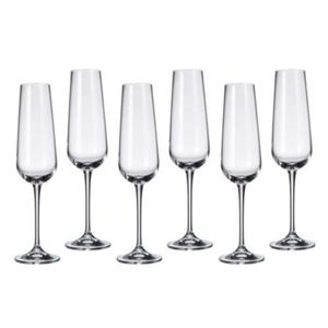 Coupe à Champagne Cristal de Bohême Lot de 6verres à champagne 220