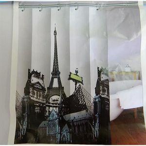Rideaux motif paris achat vente pas cher - Rideau de douche 180x180 ...
