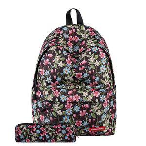 SAC À DOS Rose Florale Sac à dos d'école Fille Cartable Enfa