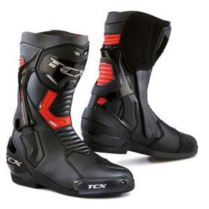 CHAUSSURE - BOTTE Bottes moto - TCX ST-FIGHTER Noir/Rouge - 40