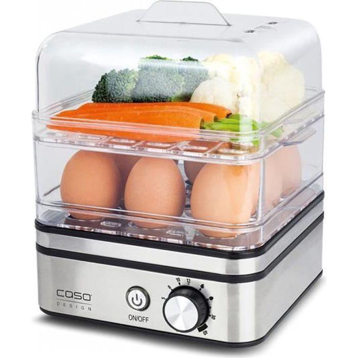 CASO ED10 Cuiseur à Œufs et cuiseur vapeur- 8 Œufs max