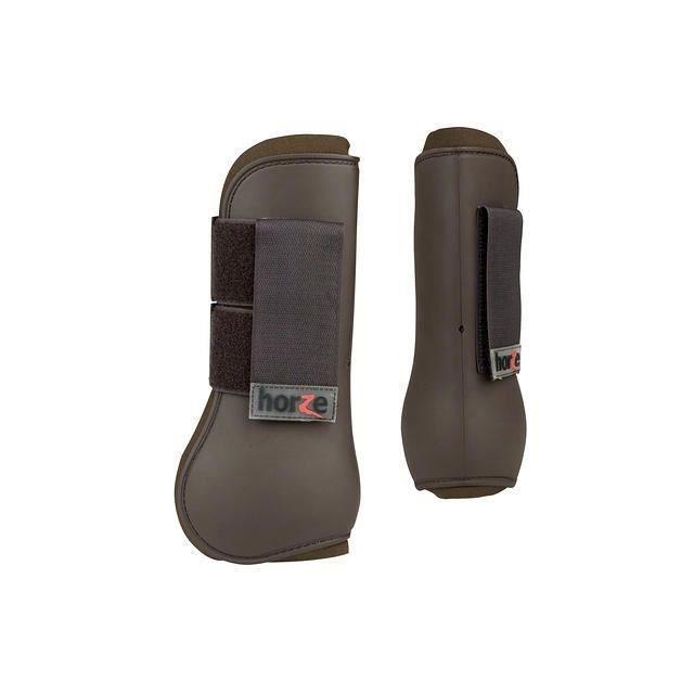 HORZE Guêtres de protection pour chevaux, taille Shetland, brun