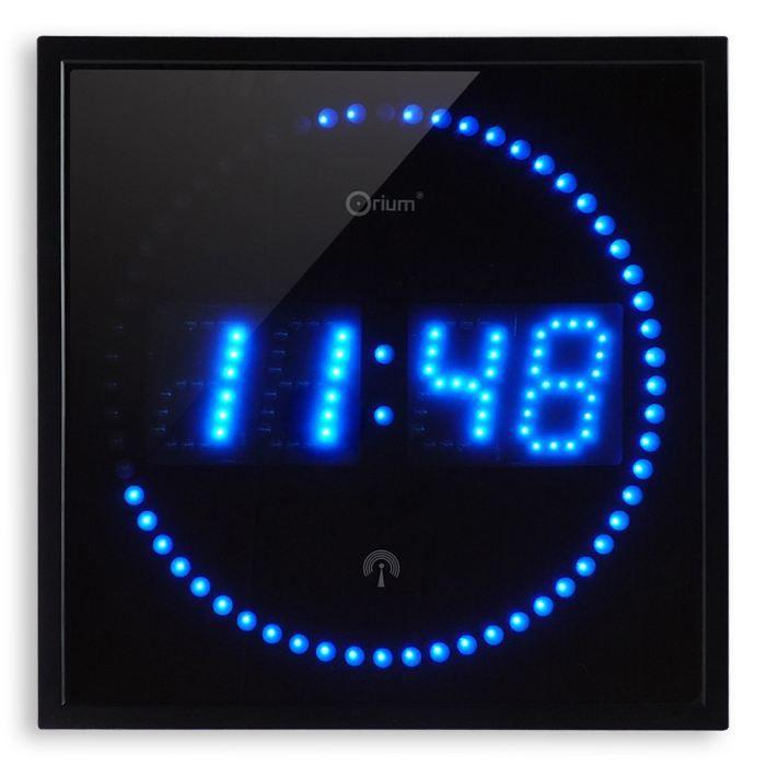 horloge led bleues rc achat vente horloge plastique et verre cdiscount. Black Bedroom Furniture Sets. Home Design Ideas