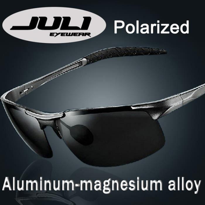 JULI Mode Hommes Aviateur lunettes de soleil polarisées conduite 8177-1 833e8dc98706