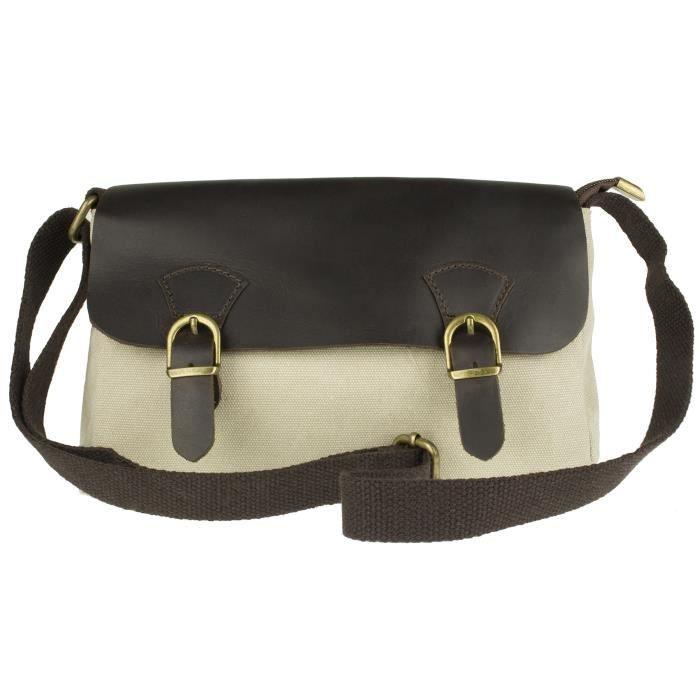 Croix de toile en cuir italien Body Bag ZNDSA