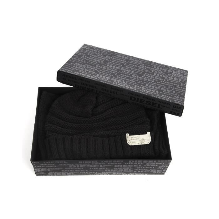 62d0a4306e3 Coffret bonnet écharpe noir Jingle pour homme - Achat   Vente bonnet ...