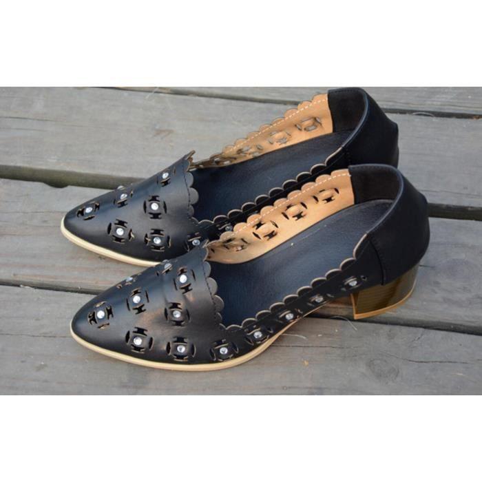 Pure Color bout pointu creux Vintage High Heel Shoes