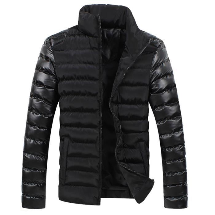 4ef5e2ff5 Noir Blouson Homme Pour L'hiver Cuir Pu Urban C...