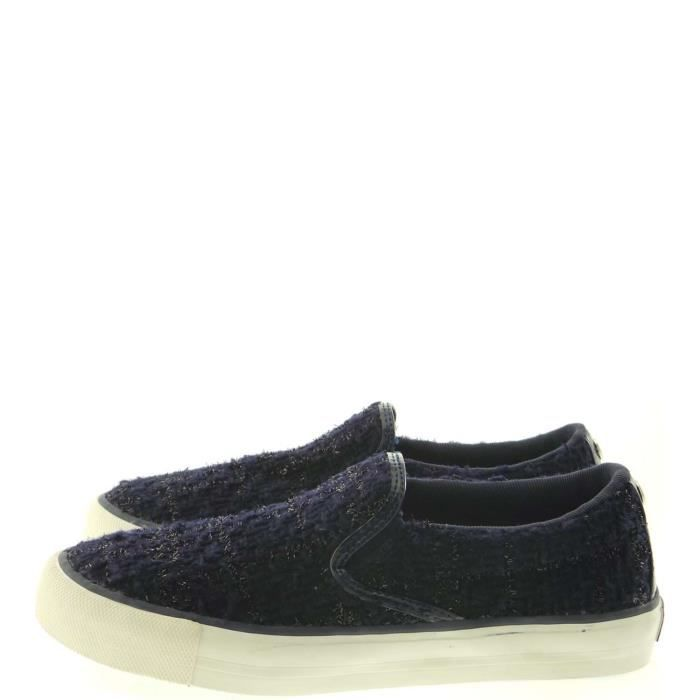 Guess Slip On Femme Blue RvMHY