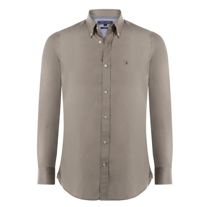 Tommy Hilfiger Chemise Homme Camel Camel - Achat   Vente chemise ... 0ccb4b06f1d3