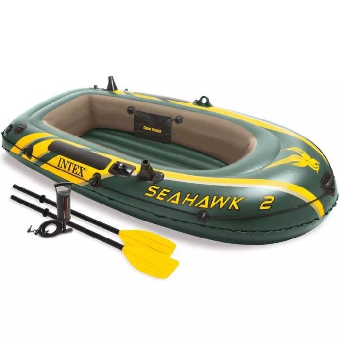 ANNEXE GONFLABLE Set bateau gonflable avec rames + pompe Intex Seah