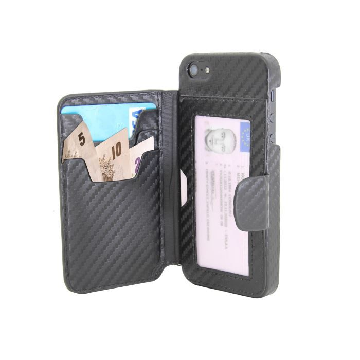 coque iphone 5 portefeuille