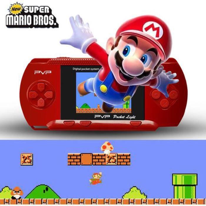 Usiful® console de jeu portable,jeux vidéo portables,2.5 inch LCD 8-bit PVP console-cadeaux d ...