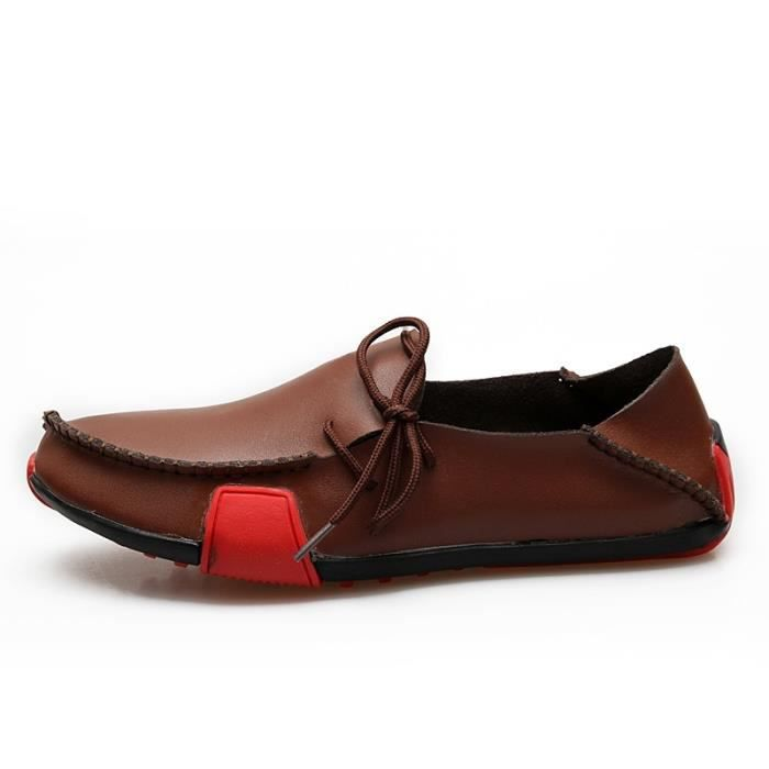 39-47 Taille Plus véritable mode en cuir Casual PLATS respirante Hommes Chaussures Mocassins Mocassins Sensitive Chaussures de vb9mEELSHx