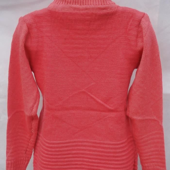 ROBE EN LAINE CORAIL 8 ANS ROBE PULL A MANCHES LONGUES