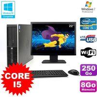 UNITÉ CENTRALE + ÉCRAN Lot PC HP Elite 8200 SFF Core I5 3.1GHz 8Go 250Go