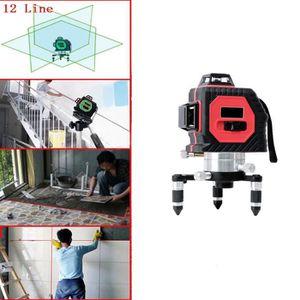 NIVEAU - FIL A PLOMB Niveau laser rouge nivellement auto 12 lignes à 36