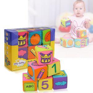 PELUCHE 6 pièce Cube en Tissu bébé multifonction Jeude cub