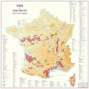 AFFICHE - POSTER POSTER Carte de France des Vins et Eaux-de-Vie
