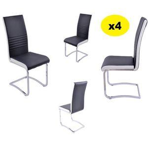 Lot de chaise noir et blanc achat vente pas cher - Chaise noir et blanc pas cher ...