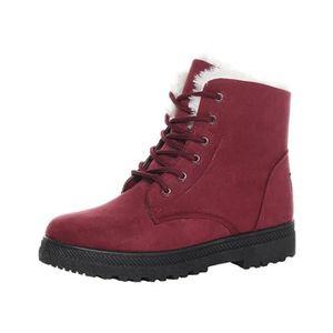 Chaussures Hommes Bottes cuir laçage rouge 41 Rouge Rouge - Achat / Vente botte  - Soldes* dès le 27 juin ! Cdiscount