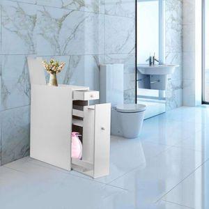 colonne de rangement salle de bain blanc et bois achat vente pas cher. Black Bedroom Furniture Sets. Home Design Ideas