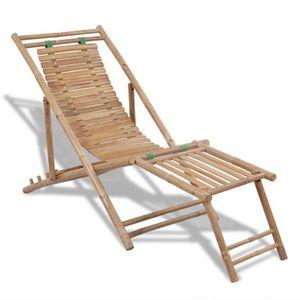 chaise longue exterieur avrec etaere