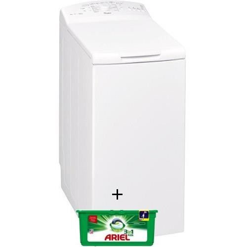 PACK LAVAGE WHIRLPOOL AWE6215 - Lave linge - 6 Kg - 1200 T/min - A++ / ARIEL PODS LESSIVE 81623086 -