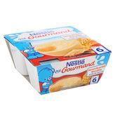 NESTLÉ P'tit Gourmand Semoule au lait Biscuitée - 4x100 g - Dès 6 mois