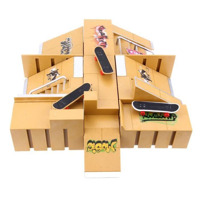 jouets 11pcs skate park kit rampe pi ces pour tech deck finger conseil sport props formation. Black Bedroom Furniture Sets. Home Design Ideas
