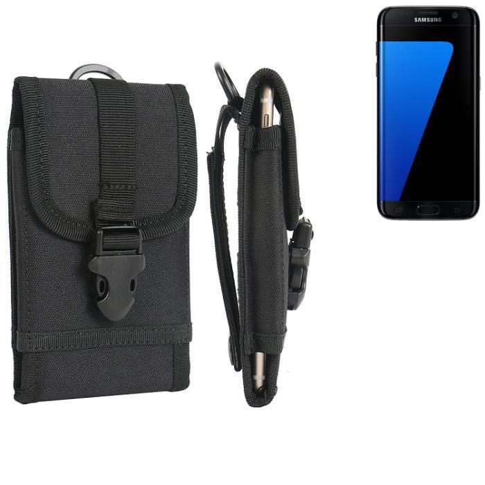 Pochette ceinture - étui pour Samsung Galaxy S7 edge, noir   étui de  téléphone Housse de protection sac 8ce5a7089af5