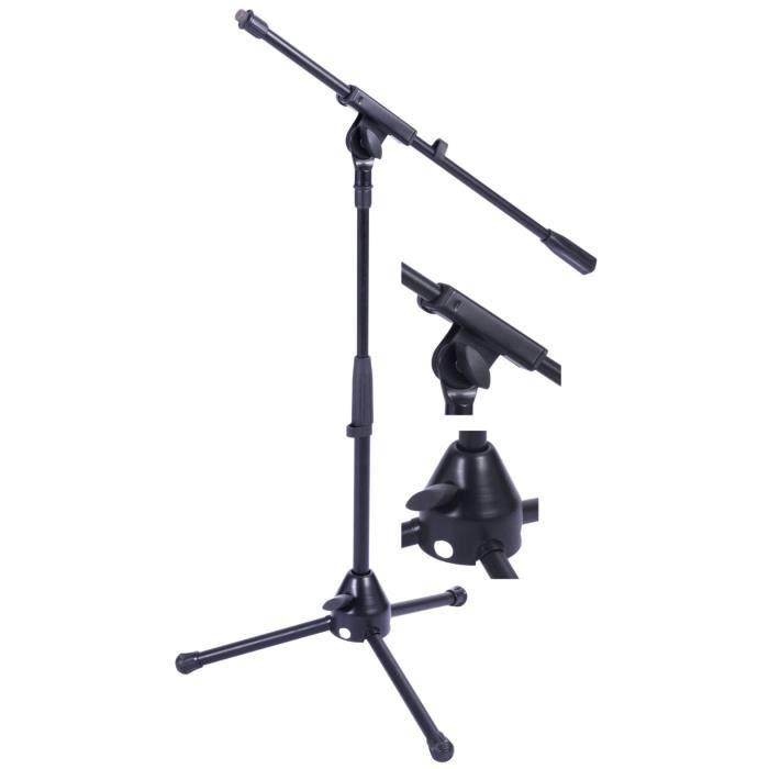 petit pied de micro avec perche reglable support microphone accessoire avis et prix pas. Black Bedroom Furniture Sets. Home Design Ideas