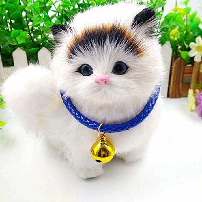 Collier Pour Chat Avec Clochette Réglable Animaux,chien(caniche) En Pu-(17-22cm)