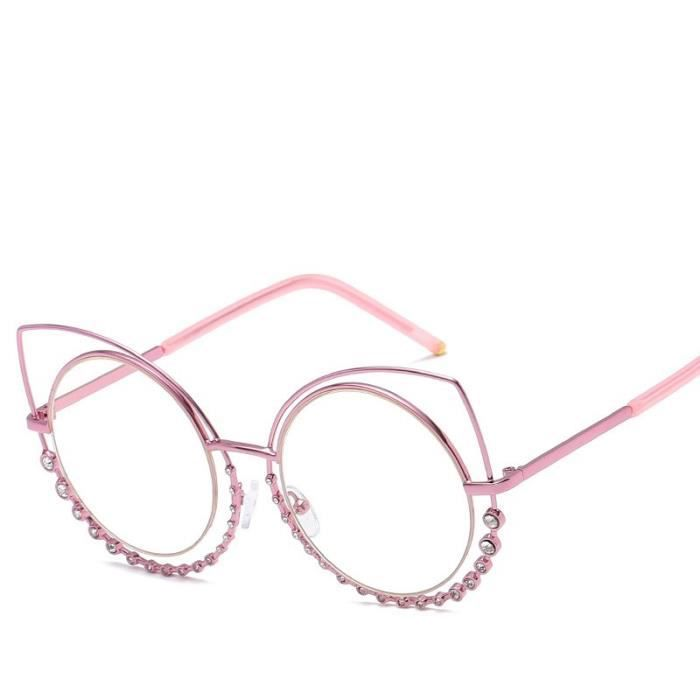 Nouvelles lunettes de soleil en métal femmes double cercle oeil de chat lunettes de soleil