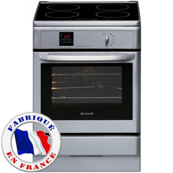 BRANDT KIP710X Cuisinière table induction-4 zones-8983W-Four ...