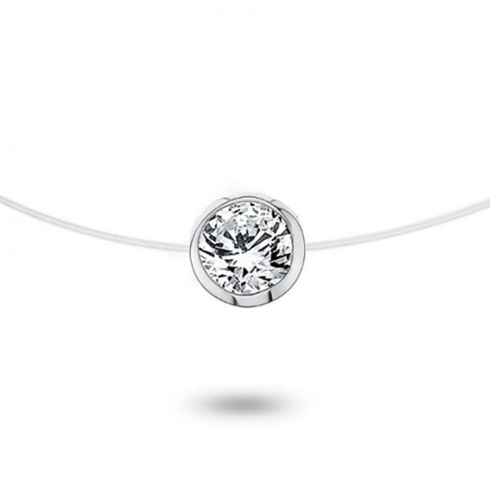 Collier Or 750/1000 Diamant 0,05 ct