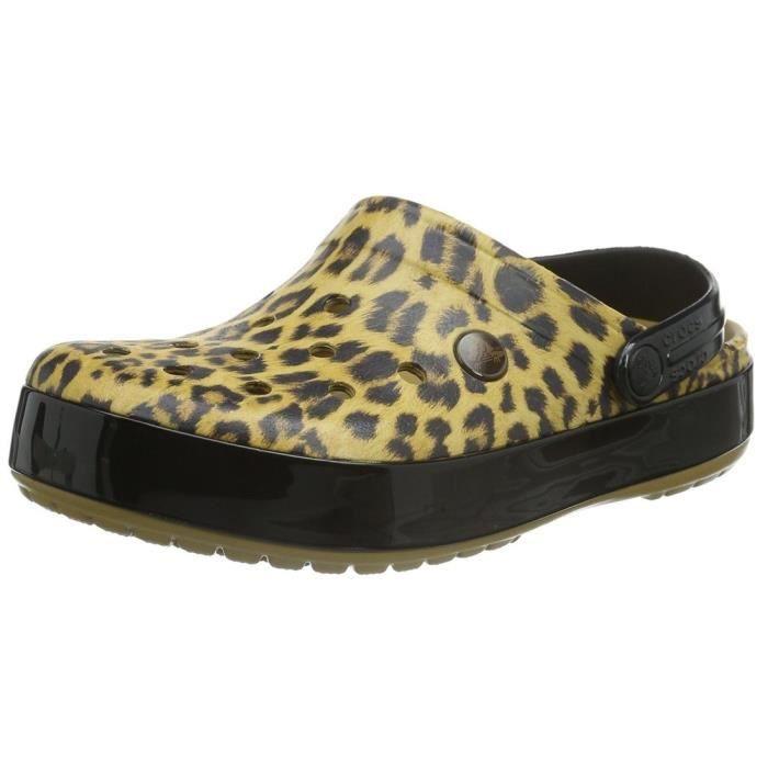 chaussons / pantoufles crocband leopard ii femme crocs crocband leopard 2