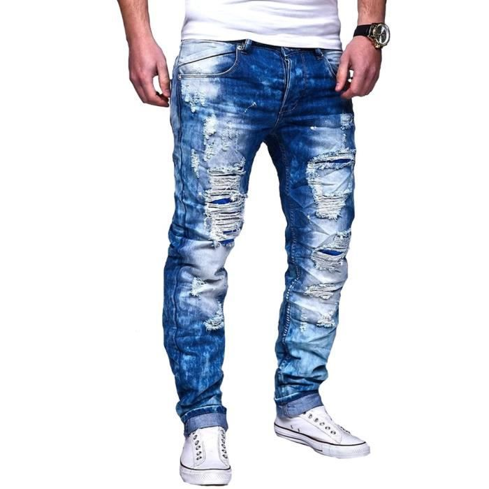 Déchiré Bleu 8097 Homme Slim Achat Vente Jeans w0Zgx