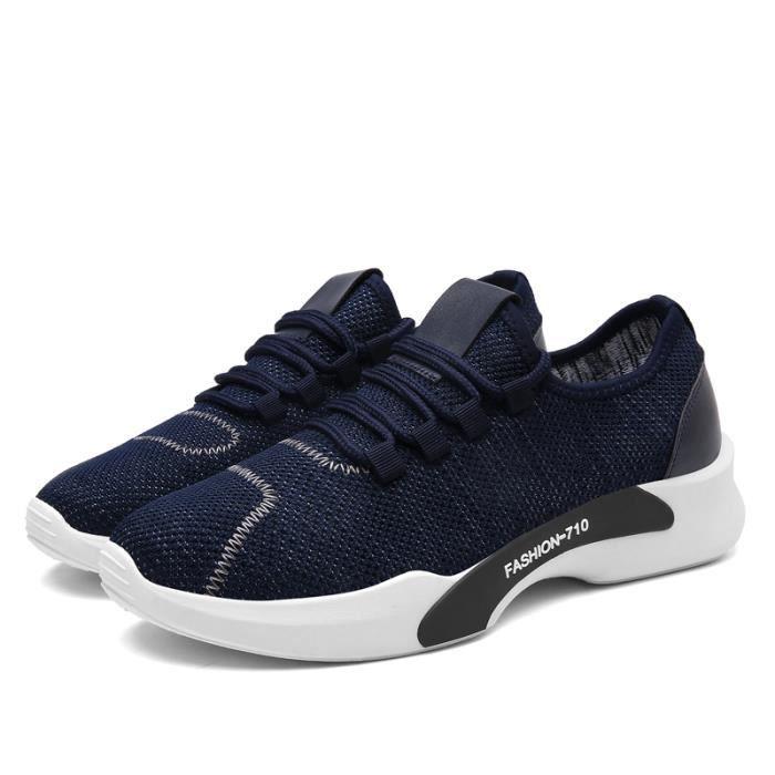Basket Homme Chaussures De Course Run Masculines Respirante Chaussures Bleu SjYKP